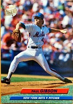 MLBカード 92FLEER Paul Gibson #531 METS