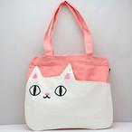 【猫3兄弟】ポケットトートバッグ(shiro) 【白猫 猫柄 23062】