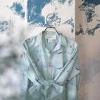 オーガニックコットンポプリン・赤ずきんちゃんプリントのシャツ *プラネード