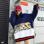 【新作10%off】looe tiger printed sweater 3327