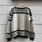"""Unknown"" 60's Vintage Handknitted Nordic Knit Sweater"