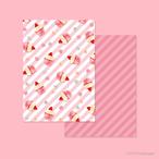 ストロベリーカップケーキ - デザインペーパー