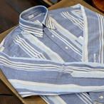 Workers(ワーカーズ) インド手織りカディ ストライプボタンダウンシャツ