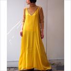 【hippiness】cupro Vneck camisole one-piece(yellow)/ 【ヒッピネス】キュプラ ブイネック キャミソール ワンピース(イエロー)