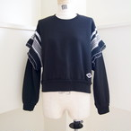 【RehersalL】 pleats shoulder pullover (black) /【リハーズオール】プリーツショルダープルオーバー(ブラック)