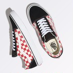 キッズVANS Old Skool CHECKERBOARD BLACK/RED