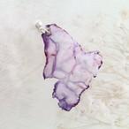 ピンク紫|染めオーガンジーのゆれるアートピアス