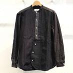KUON(クオン) 襤褸クレイジーパターンシャツ バンドカラー