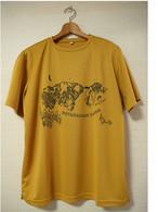 """【星空 HOTAKADAKE SANSO_イエロー(からし色)】Tシャツ (designed by """"midori sanada"""")"""