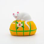 平賀工芸社 花巻人形「たわらねずみ」