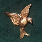 ヴィンテージ NAPIER 鳥のブローチ