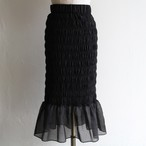PHEENY【 womens 】 organdie shirring skirt