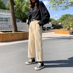 【bottoms】今季も大流行アンクル丈コーデュロイカジュアルパンツ