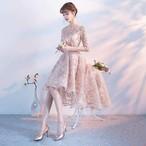 お呼ばれワンピース ドレス 二次会 ワンピース 体型カバー パーティー 結婚式 おしゃれ レース セクシー フリフリ 透け感 シースルー i459