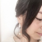 ♡aen fleur(アン フルール)♡ パールのフープノンホールピアス(樹脂)