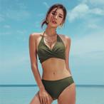 【ビキニ・水着】定番人気無地ファッションワイヤーなしビキニ20471741