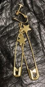 GOLD×安全ピン オリジナルイヤリング