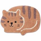 【CHATTE・シャット】猫ミニマット(ブラウン)【猫雑貨 インテリア】