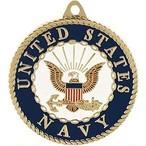 引続きセール主力商品20%OFF!  U.S.Navy アメリカ海軍 ロゴメダリオンキーホルダー【ミリタリー・メダリオン・キ−リング・米軍正式ライセンス】 KC2078