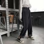 【送料無料】 美脚パンツ♡ カラーデニム ワイドパンツ ズボン ワイドレッグ カジュアル ジーパン