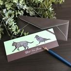 魔女の庭 封筒付きメッセージカード(チョコミント)