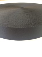 ナイロン ベルト テープ 朱子織 厚み薄目 1.1㎜厚  25mm幅 黒 1m