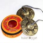 チベタンベル ティンシャ 龍模様のベル ケース付き