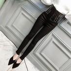 【bottoms】ハイウエストファッション合わせやすいカジュアルパンツ25151141