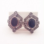 """AVON"" Genuine Onyx and Marcasite pierce[p-567]"