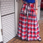【ethical hippi】cotton check skirt / 【エシカル ヒッピ】コットン チェック スカート