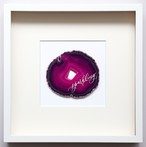 Wall letter◇sparkling pink / Wall decor/calligraphy agate slice/handwritten/ウォールデコ カリグラフィー アゲートスライス