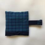 緑色タータンx紺色  保冷袋付きランチベルト (新サイズ)