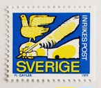普通切手・鳥と羽ペン / スウェーデン 1979