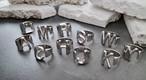 イニシャルリング リング 指輪 韓国ファッション