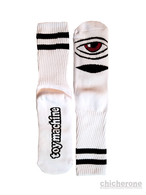 【TOY MACHINE】 SECT EYE HEATHER SOCKS WHITE
