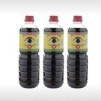 鶴印醬油 1リットルパックが3本