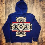 M's FLAGS WOOL ACCENT INDIGO HOODIE
