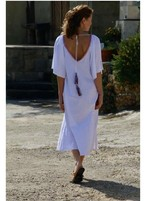 ◆Mon ange Louise◆ CHILL LONG KAFTAN(white)ビーチドレス ワンピース