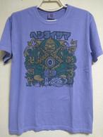 卍ヘンタイサマ卍 Tシャツ 6.1オンス Garment Dyed パープル 内側プリント有 ヘンタイワークス