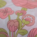 [B15]ドイツ ヴィンテージ ファブリック68×50cm大柄ピンクの花