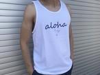 alohaサイン タンクトップ(white)