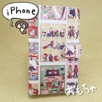和柄iPhoneケース/手帳型「おもちゃづくし」