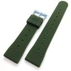 ヴィンテージ ワッフル(地獄の黙示録:マーティン・シーン着) 復刻ラバーベルト ミリタリーグリーン 20/22mm 腕時計ベルト