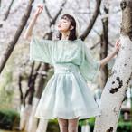 ハイウエスト 透け感 ワンピース【16346】