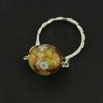 レトロなトンボ玉の指輪no.72
