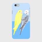 iPhoneケース セキセイインコ オパーリンブルー&ルチノー【各機種対応】