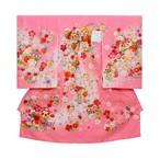 お宮参り 女の子着物 ピンク 鞠に花文様