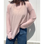 【sandglass】 reversy espandy long sleeve(pink) / 【サンドグラス】リバーシー エスパンディー ロング スリーブ(ピンク)
