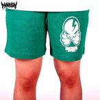 OCTOPUS SKULL SWEAT SHORTS (Green)