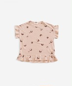 Play Up プレイアップ T-shirt with frills on shoulders | Weaving size:3Y(100)ー14Y(160)